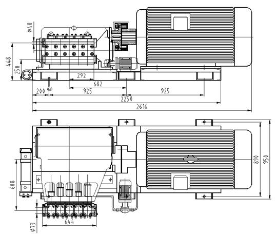 (1)概述 5XNW型五柱塞电动往复泵适合用于各种腐蚀介质和高温介质(最高温度可达150)。该系列产品设计合理、三化程度高、结构紧凑、运行平稳、效率高、维护方便。主要用于钢铁加工业(热滚轧机、高压水)、除鳞冶金工业(锻造模锻和挤压加工)、制造业(橡胶木材加热成形)金属加工工业(静压试验)、化学及自动化工业(液力清洗)、化工合成、油田注水等。 (2)性能范围 流量:5.
